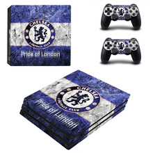 Chelsea Football Club PS4 Pro Skin Sticker Decal For Sony PS4 PlayStation 4 Pro Console and 2 Controllers Stickers
