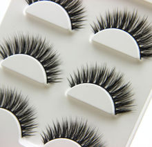 3Pairs Natural Long 3D False Eyelashes Makeup Handmade Thick Fake Eye Lashes Extension Tools(China)