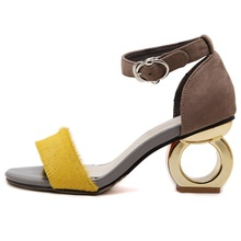 Women high-heel sandals summer new fashion Strange Style Heels personality shaped with open-toed sandals woman shoes wild Office