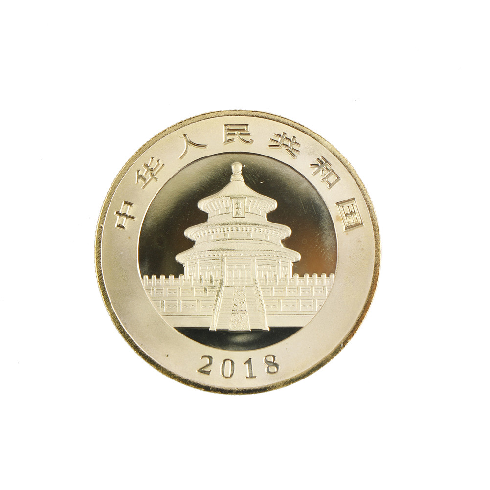 1 Pcs Gold Panda Plated 2018 Chinese Souvenir Coin Replica Business Tourism Christmas Gift