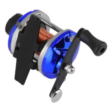 Wholesale Right Handed Trolling Fishing Reel Round Saltwater Baitcasting Fishing Reel Fishing Wheel 2 Colors(China)