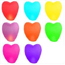10pcs / lot heart-shaped Chinese paper lanterns balloon lanterns flying wish lamp hole lantern balloon wedding party decoration