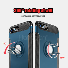 Luxury Shockproof Case For iphone 6 6s 7 plus Case Metal Ring Holder Combo Phone Cover For iphone 7 7 plus Protect Cases(China)