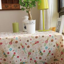 Christmas Tablecloth Cartoon Fabric Wedding Table Cloth Round Table Cloths Rectangle Tables Cover  Wholesale