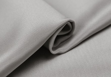 "Howmay 100% pure silk fabric crepe de chine 30m/m 45"" 130gsm 114cm CDC silver 12# for sewing dress or DIY handmade(China)"