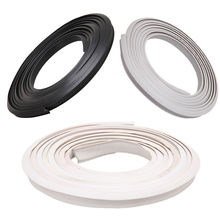 2M J-shape Universal Car Truck Motor Door Frame Window Edge Rubber Seal Strip Wheatherstrip Sealing Hollow White Gray Black