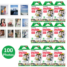 100 Sheets Fujifilm Instax Mini 8 film for Fuji Instax Mini 7s 8 9 70 25 50s 90 Instant Photo Camera Share SP-1 SP-2 White Film(Hong Kong)