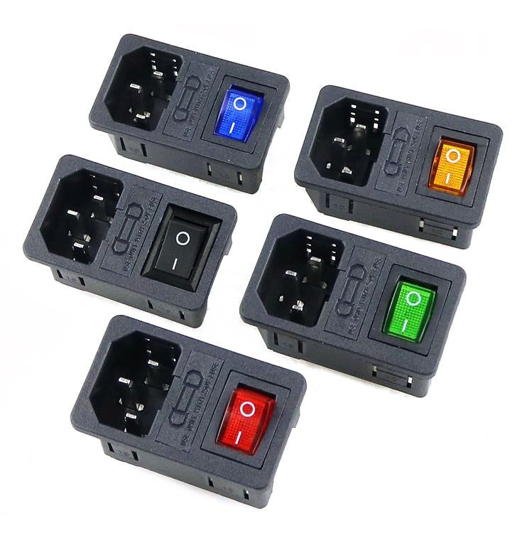3 broches IEC320 C14 interrupteur fusible /& prise d/'alimentation 10A 250 A2 5X