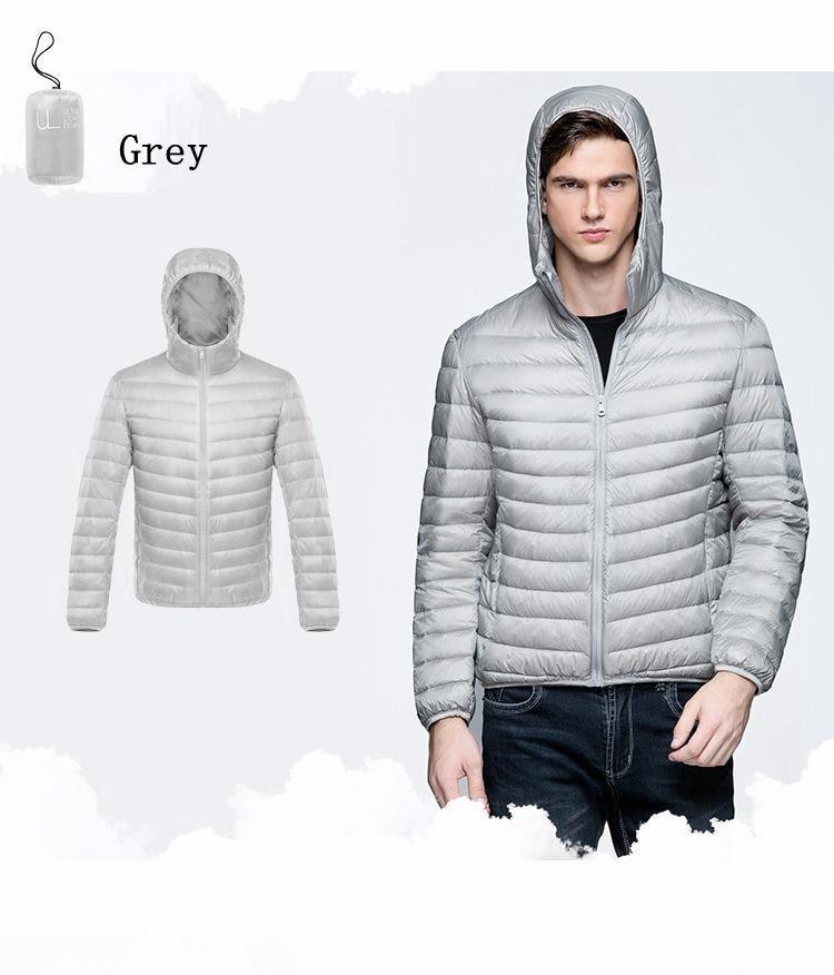 2017 Autumn Winter Duck Down Jacket Ultra light Men 90% Coat Waterproof Down Parkas Fashion mens collar Outerwear coat