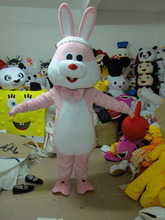 rabbit mascot costume The Easter bunny costumes Adult size clothing Free shipping