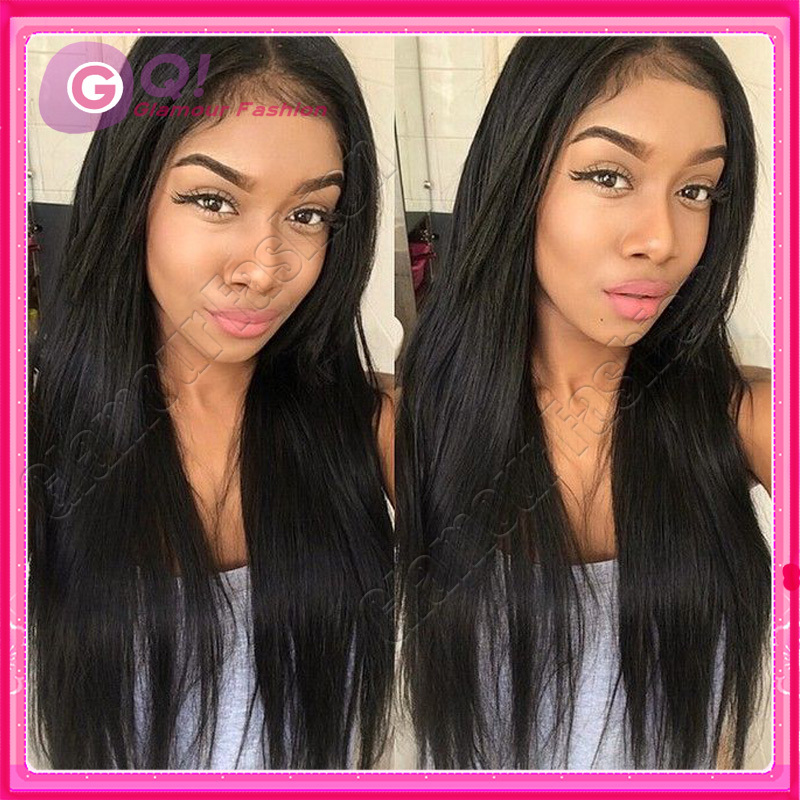 GQ 8A human hair wigs straight full lace human hair wigs pelucas pelo natural lace front wig glueless for black women baby hair<br><br>Aliexpress
