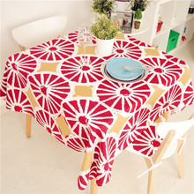 New Arrival North Europe Style  Orange Series Tablecloth Cotton Canvas Dinner Table Cover 70*70cm 90*90cm  Accept Customize