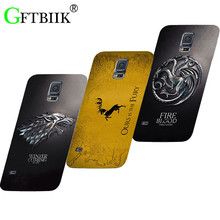 Cute Cartoon Case For Samsung Galaxy S5 S 5 SM-G900F S5Neo S5 Neo SM-G903F Hard Plastic Case Football Cover Game of Thrones 7