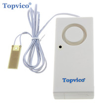 Topvico Water Leakage Alarm Detector 130dB Water Alarm Leak Sensor Detection Flood Alert Overflow Home Security Alarm System(China)