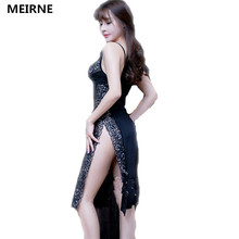 MEIREN Victoria Hot Chinese Style Women Sexy Lace Babydoll Underwear Lingerie Cheongsam Backless Sleepwear Robe Pajamas N180