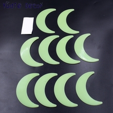 10Pcs Big 9cm Moon Energy Storage Fluorescent Glow In The Dark Christmas Kids Bedroom Wall Stickers Baby Rooms Home Decoration