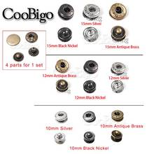 12set/Pack Metal Press Studs Sewing Button Snap Fasteners Sewing Leather Craft Clothes Bags #GZ153