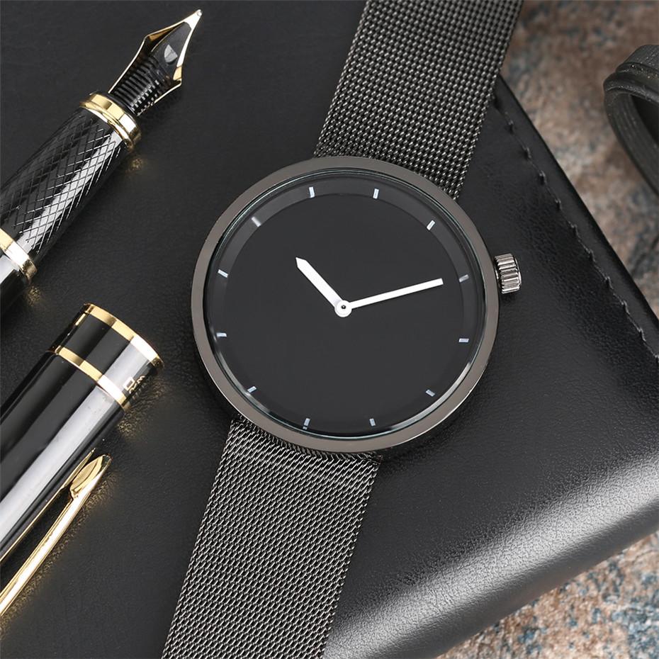 YISUYAแฟชั่นลำลองผู้ชายนาฬิกาอะนาล็อกควอตซ์ฉลามสีดำสแตนเลสตาข่ายวงสร้างสรรค์นาฬิกาข้อมือท... 7