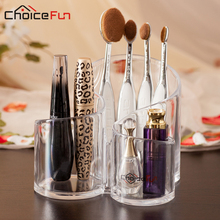 CHOICE FUN New Arrival Multiple Durable Clear Acrylic Cosmetic Jewelry Makeup Brush Organiser Box Case Stand Organizer SF-243674(China)