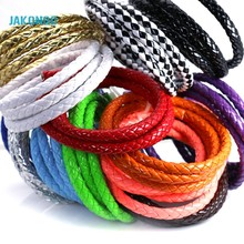 JAKONGO 7mm Round Leather Cord DIY Rope Thread for Jewelry Making Decorative Handicrafts Accessories 1meters/lot(China)