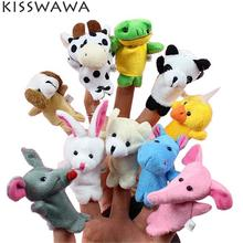 KISSWAWA 10 Pcs Lot  kids educational ts Children Gift Baby Plush Toy Finger Puppets Tell Storyprops Animal Doll Plush Toys