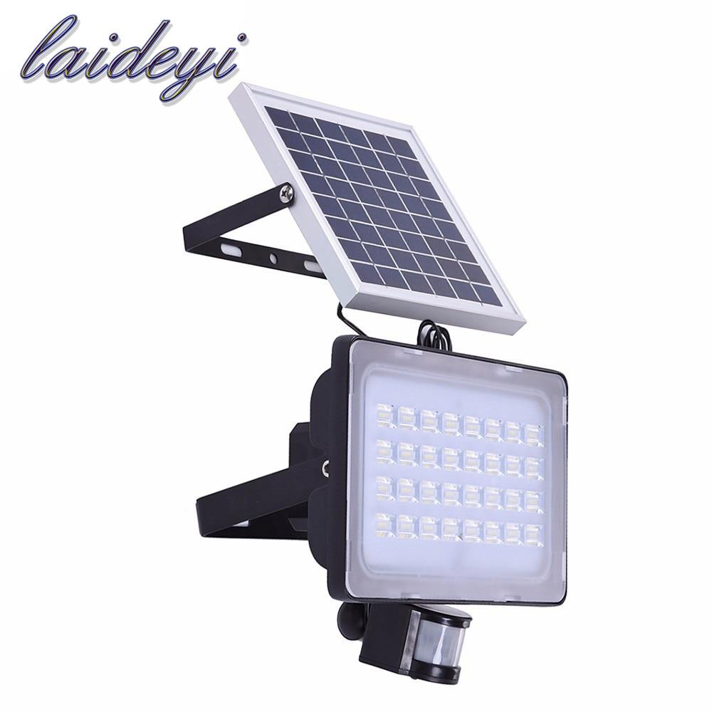 10W 20W 30W 50W solar flood light PIR motion sensor 12V 24V solar panel flood lamps for outdoor garden street<br>