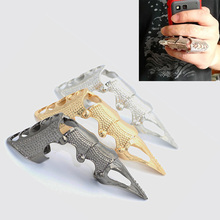 Claws Durable Fashion Punk Rock Pen Scroll Joint Armor Knuckle Metal Full Finger Claw Rings New Style 63 KQS