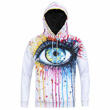 2017 Autumn Winter Eye 3D Printed  Men Hooded Sweatshirt Oversized Unisex Cotton Casual Harajuku Hoodies Hipster Clothing HS017