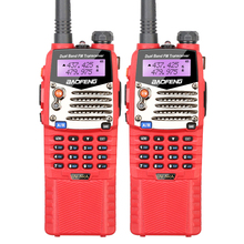 2PCS Brand New Red Baofeng UV-5RA Ham Amateur Portable Security Walkie Talkie with Long Battery