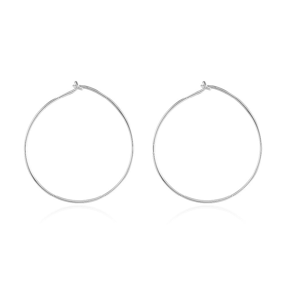 100pcs 25mm Fashion Ladies Silver Color Small Round Loop Hoop Circle Wire Hooks Earrings DIY Jewelry Findings Copper Material(China (Mainland))