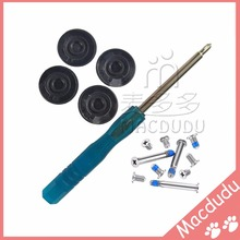 "Brand new 4Pcs/lot for Macbook Pro 13"" 15"" 17"" A1278 A1286 A1297 Rubber Feet Bottom Case Cover Rubber Foot Kit+Screws Set+Tools"