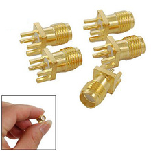 2015 Hot End Launch PCB Mount SMA Female Plug Straight RF connector Adapter 5pcs(China)