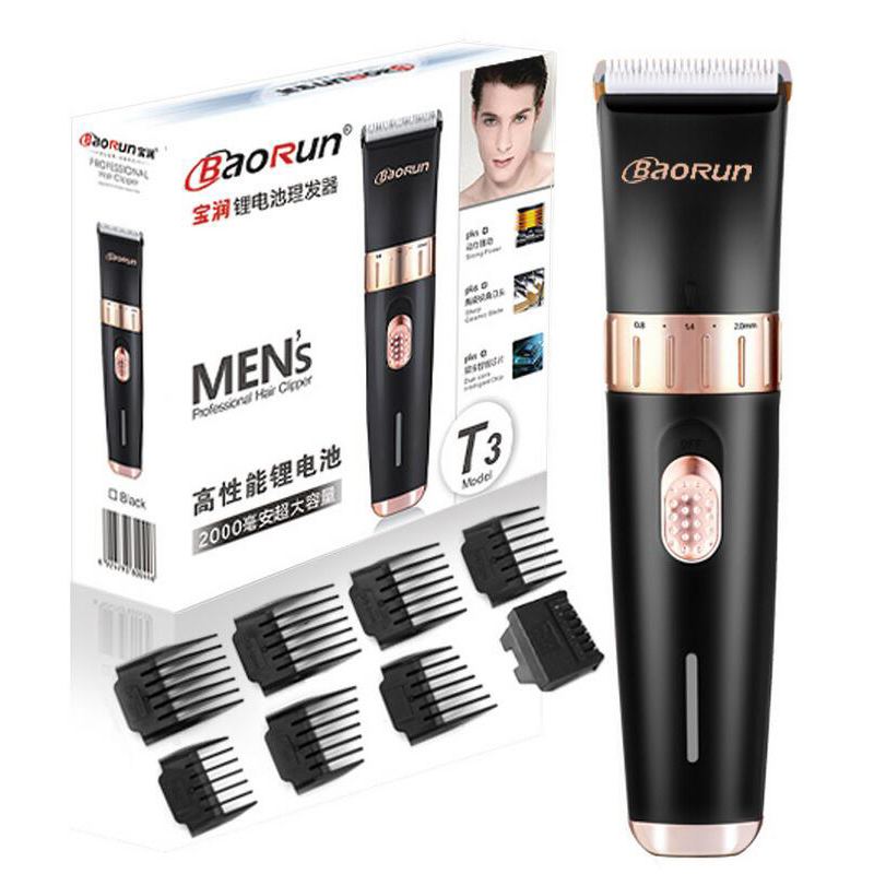 Professional Hair Trimmer Electric Hair Cutter Hair Cutting Machine To Haircut Hairclipper Barber Clippers 8pcs shaving combs<br>