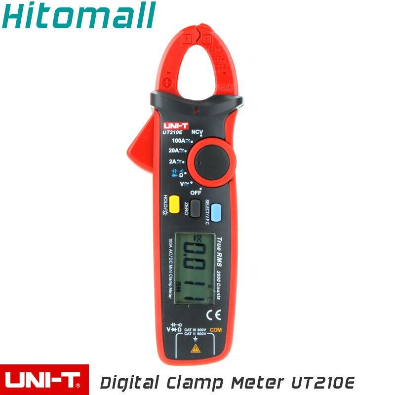 True RMS UNI-T Digital Clamp Multimeters Auto Range  2000 Counts 100A 600V Clamp Meter Unit Ammeter Voltmeter UT210E<br>
