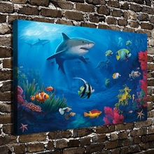 C0073 Underwater World Coral Christmas Gift .HD Canvas Print Home decoration Living Room bedroom Wall pictures Art painting