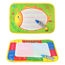 New 29x19cm Water Drawing Mat Toys Aquadoodle Mat with 1 Pen painting Drawing board rug for baby play mat(China)