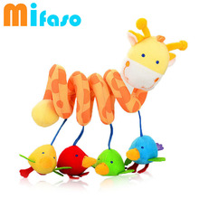 Musical Soft Plush Rabbit And Bear Baby Rattle Hanging Toy Stroller Star Hanging Rattle Mobile Products Cute Baby Toys