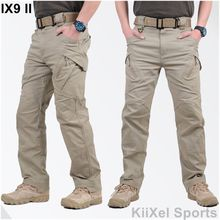 2017 IX9 II Men Militar Tactical Pants Combat Trousers SWAT Army Military Pants Mens Cargo Outdoors Pants Casual Cotton Trousers