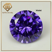 High Quality Biggest Size AAAAA 15mm-20mm Violet Loose CZ Cubic Zirconia Beads Stone Synthetic Gemstone