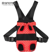 Fashion Pet Bows Backpack Dog Carrier Dot Pattern Pets Cat Head Out Double Shoulder Outdoor Bag(China)