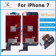 3PCS/LOT 100% Tested A++++ Replacement LCD For iPhone 7 LCD Display with Digitizer Assembly with 3D Touch Screen Free DHL Ship