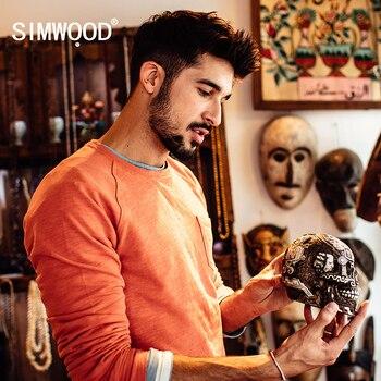 SIMWOOD 2016 Nouveau Automne Printemps Shirts Hommes Casual Hoodies 100% pur Coton WY8031