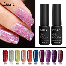 Essaje Hot Sale Color Gel Lacquer Shiny Color UV Gel Nail Polish Lucky Colorful Neon UV Gel Polish DIY Nail Art Glue Primer(China)
