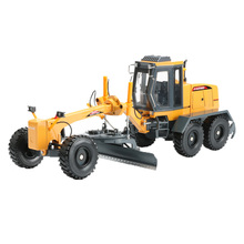 KAIDIWEI 1:35 Alloy + ABS Motor Grader Truck Toy City Construction Trucks Models Boys Collection Toys For Children Brinquedos(China)