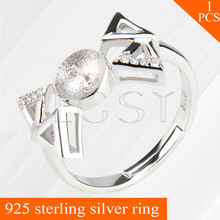 LGSY metal ring jewelry shining Bow Tie design adjustable 925 sterling silver ring accessories