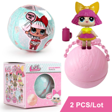2 PCS/Lot  LOL Surprise Doll Magic Funny Removable Egg Ball Doll Toy Educational Novelty Kids Unpacking Surprise Dolls Girls Toy