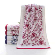 Classical flower pattern Bath Towel 34*74cm Soft Cotton Face Flower Towel Bamboo Fiber Quick Dry Towels serviette de plage &ST87
