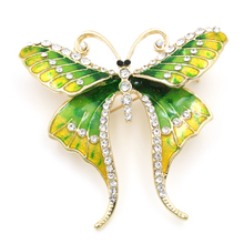Enamel Delicate Butterfly Brooch For Women In Assorted Colors