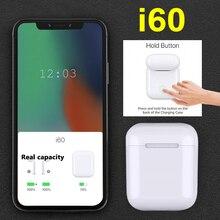 i60 TWS PK w1 chip i30 i12 i20 tws Bluetooth Earbuds Wireless Earphone Pk aire2 aire 2 i80 i40 LK TE9 i13 i14 i15 i16(China)