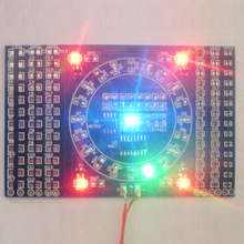 2pcs DIY Kit SMD Rotating Flashing LED Components Soldering Practice Board Skill Electronic Circuit Training Suite 90x60x1.6mm